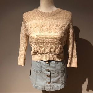 American Rag Loose Knit Cropped Sweater